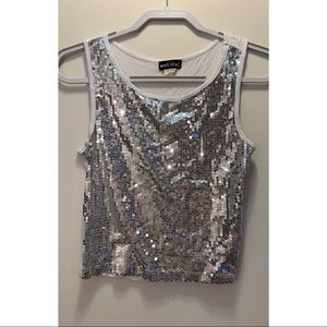 Silver sequined Wet Seal tank top